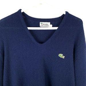 Vintage IZOD Lacoste Sweater Pullover V-Neck Men L